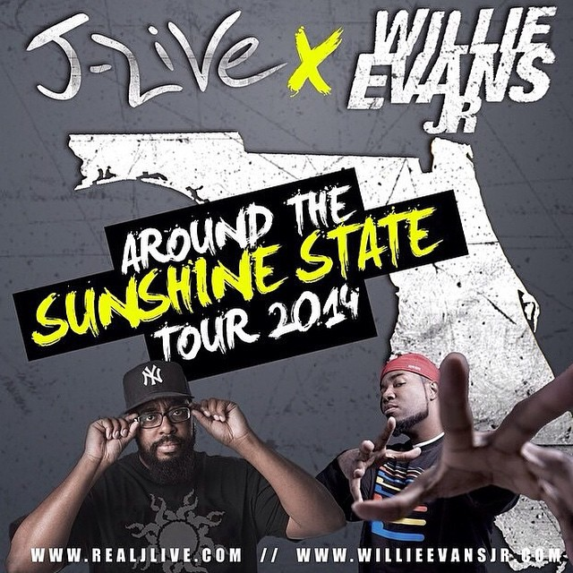 [PHOTOS] J-Live and Willie Evans Jr. – Around The Sunshine State Tour 2014